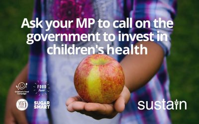 Supporting Sustain's #EndChildFoodPoverty call